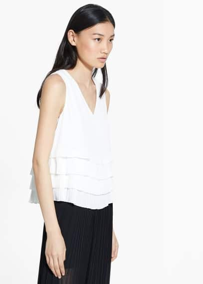 Pleated layers top | MANGO