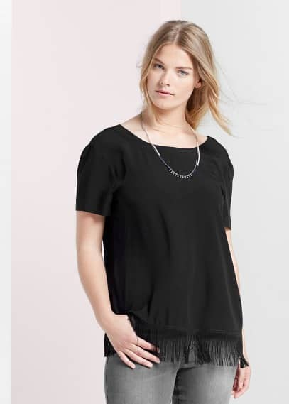 Blouse à franges | VIOLETA BY MANGO