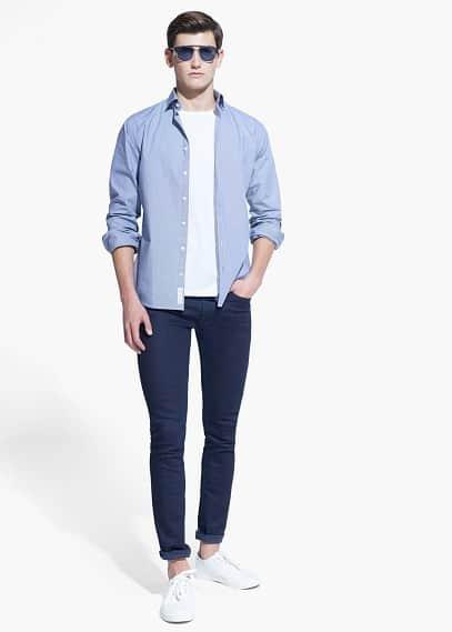 Slim-fit overhemd met gingham ruit