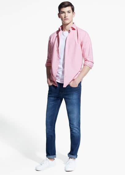 Camisa slim-fit quadrados vichy