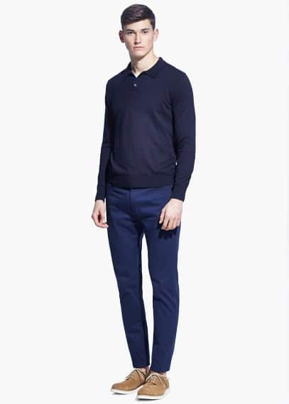 Pantalón slim-fit 5b garment-dyed | MANGO MAN