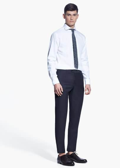 Classic-fit suit trousers