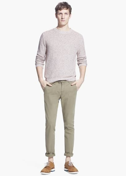 Slim-fit canvas chinos | MANGO MAN