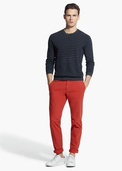 Canvas slim-fit chino | MANGO MAN