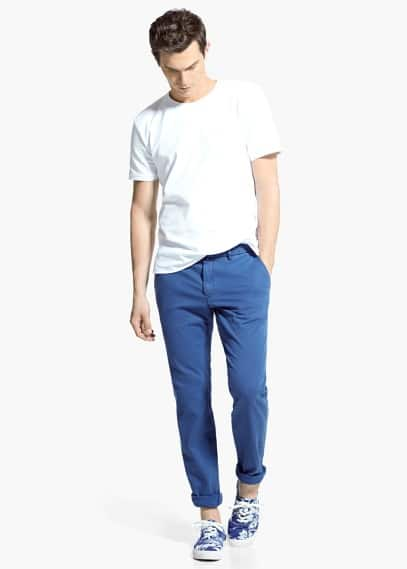 Chino slim-fit toile | MANGO MAN