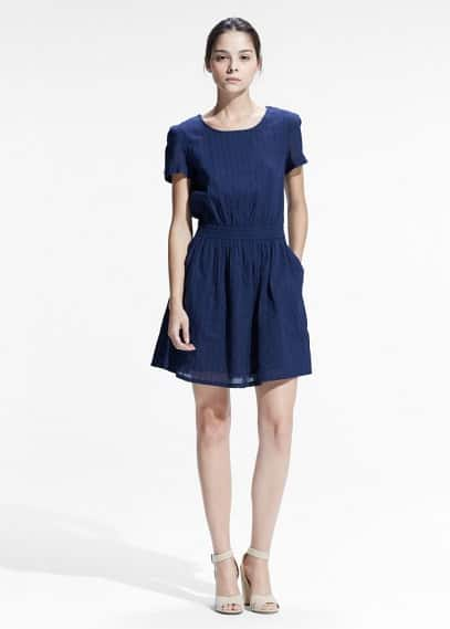 Stripe-textured dress | MANGO