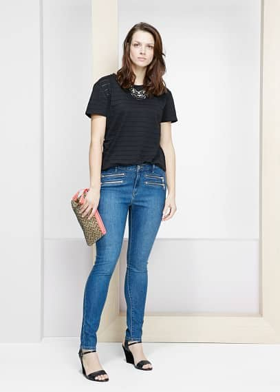 Super slim-fit vicky jeans | VIOLETA BY MANGO