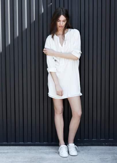Φόρεμα στυλ πουκάμισο | MANGO