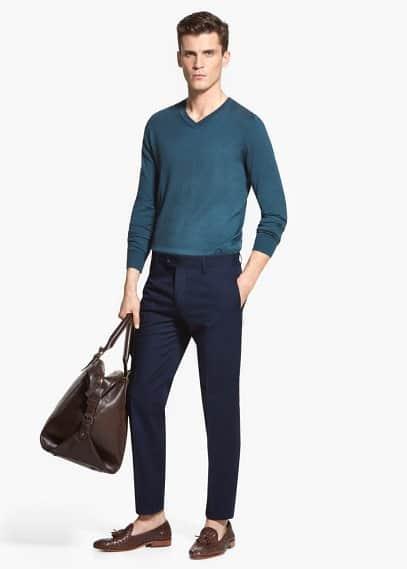 Gemusterte anzughose | MANGO MAN