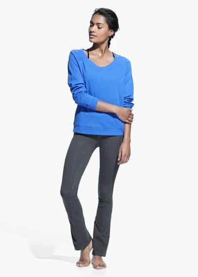 Yoga - relaxed cotton sweatshirt | MANGO