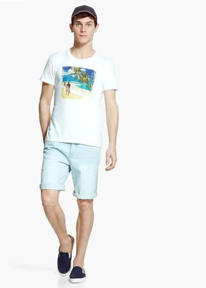T-shirt met beach print