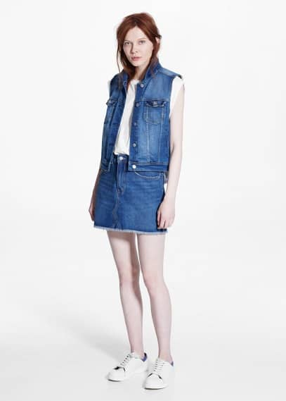 Medium denim gilet | MANGO