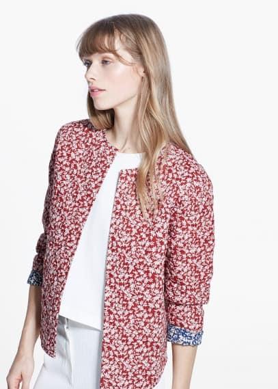 Floral reversible jacket | MANGO