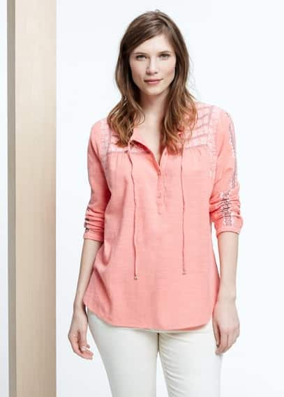 Blouse boho broderies | VIOLETA BY MANGO
