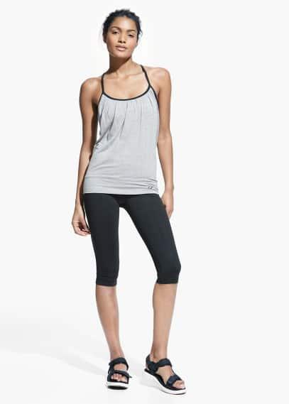 Fitness & running - incorporated bra t-shirt | MANGO