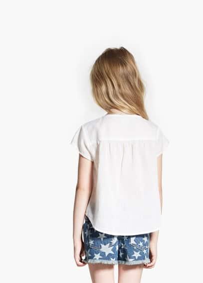 Blusa bordada | MANGO
