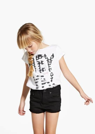 T-shirt purpurina | MANGO KIDS