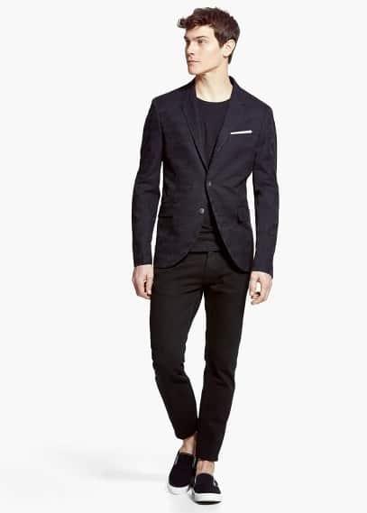 Jacquard-blazer | MANGO MAN