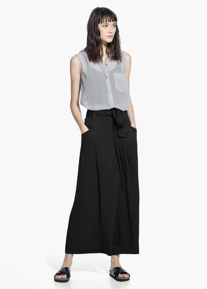 Mouwloze blouse | MANGO