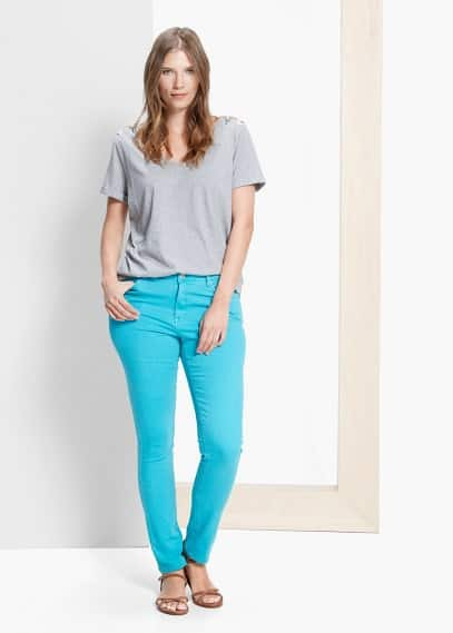 Cuore slim-fit jeans | VIOLETA BY MANGO
