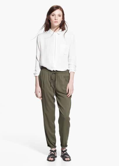 Pantalón fluido | MANGO