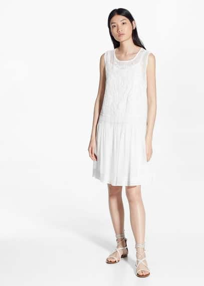 Ruffled hem dress | MANGO