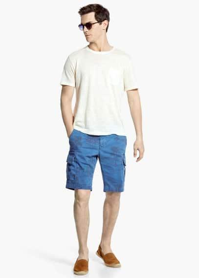 Printed cargo bermuda shorts | MANGO MAN