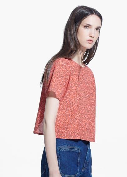Paisley print blouse | MANGO