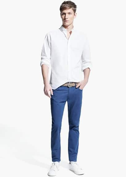 Slim fit baumwollhemd | MANGO MAN