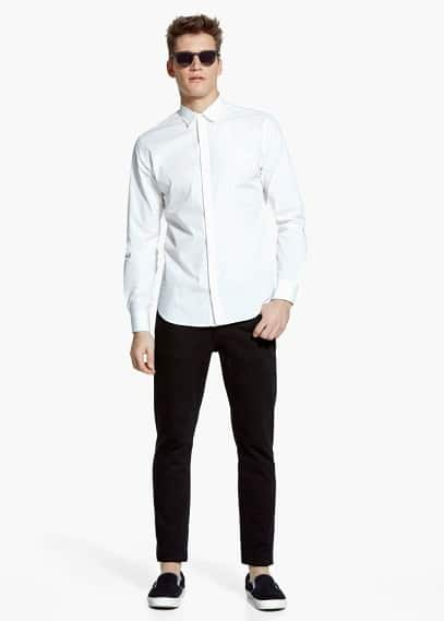 Modern slim-fit patterned shirt | MANGO MAN