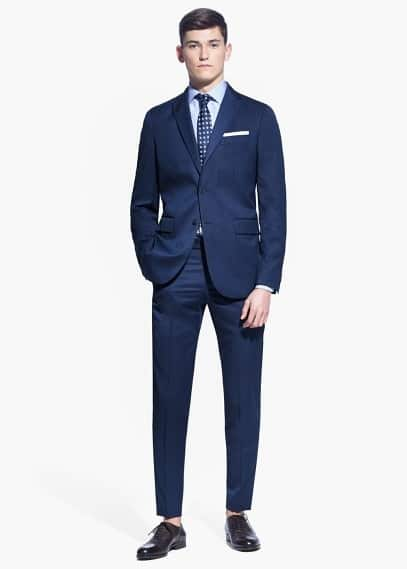 Bird's eye suit blazer | MANGO MAN