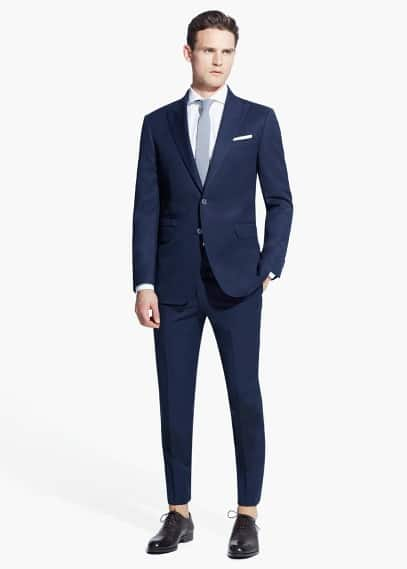 Peak lapel cadiz suit | MANGO MAN
