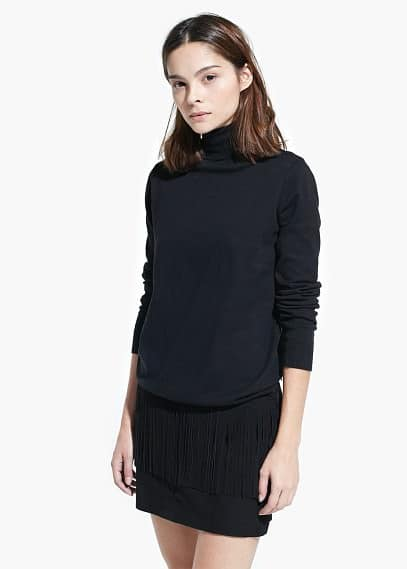 Stand-collar sweater