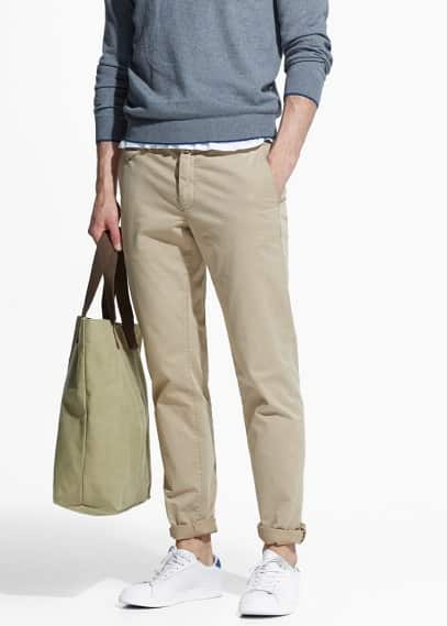 Chinos slim-fit garment-dyed