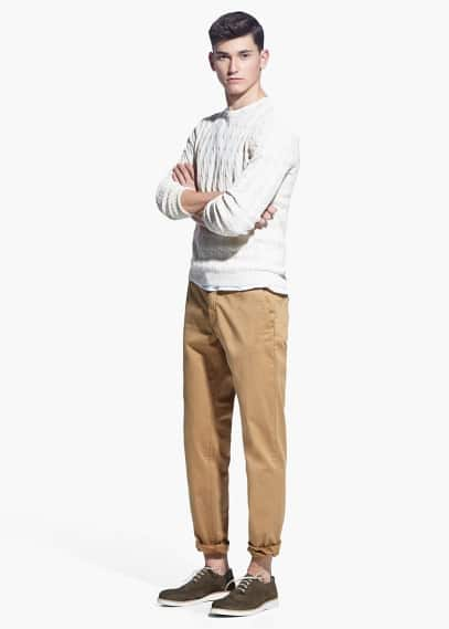 Garment-dyed slim-fit chino | MANGO MAN