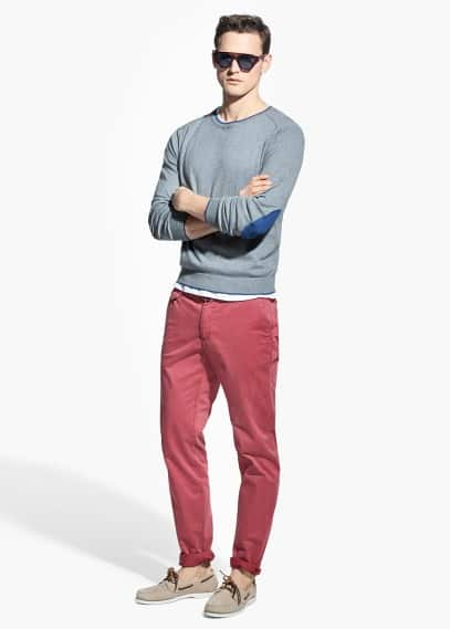 Slim-fit garment-dyed chinos | MANGO MAN