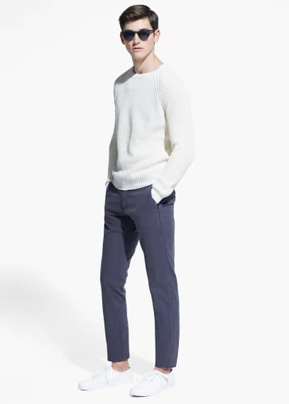 Pantalon chino slim-fit garment-dyed | MANGO MAN