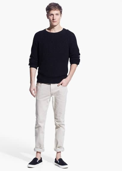 Alex beige slim-fit jeans | MANGO MAN
