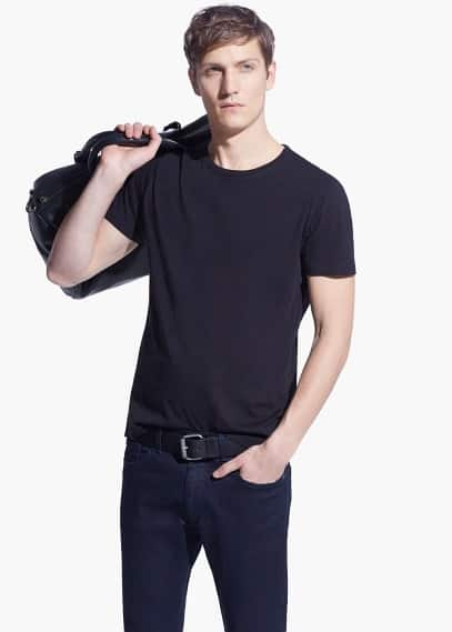 Basic katoenen t-shirt | MANGO MAN