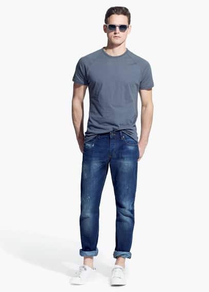 Slim-fit dark vintage steve jeans | MANGO MAN