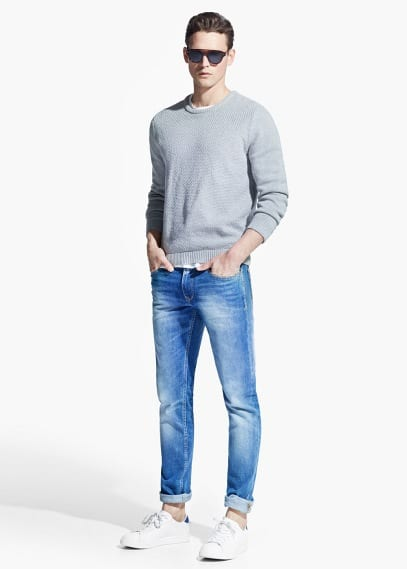 Slim-fit light wash Tim jeans