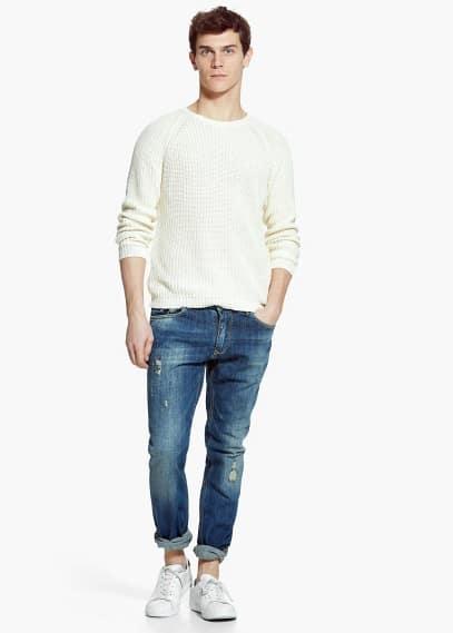 Jude skinny jeans met vintage wassing | MANGO MAN
