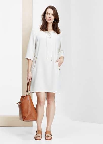Φόρεμα κορδόνι πλεξούδα