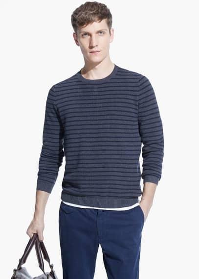 Strukturierter pullover mit leinen | MANGO MAN