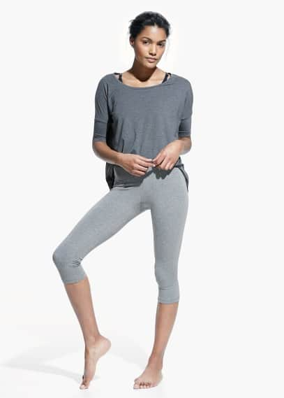 Yoga - slimming effect capri leggings | MANGO