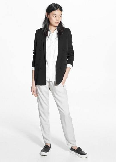 Baggy zip trousers | MANGO