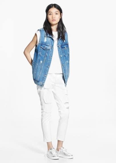Slim fit 7/8-jeans nancy | MANGO