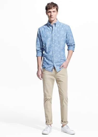 Camicia slim-fit floreale