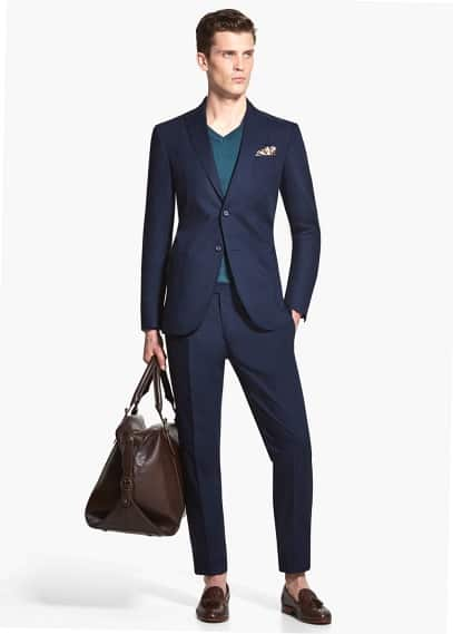 Lightweight structured cotton erman suit | MANGO MAN