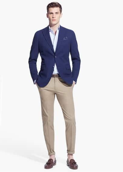 Zig-zag texture blazer | MANGO MAN